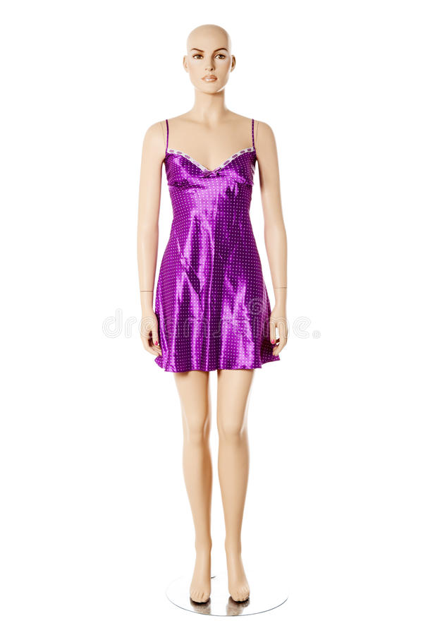 Mannequin no nightwear | Isolado fotografia de stock royalty free