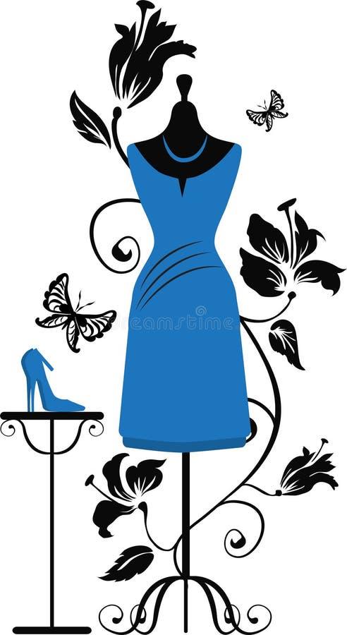 Mannequin pour des tailleurs avec des chaussures d'ANG de robe illustration stock
