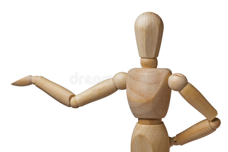 Mannequin Presenting Presenter Closeup Isolated stock image