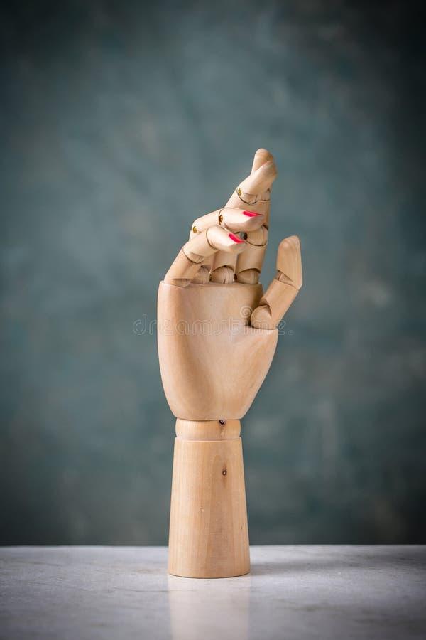Mannequin ręki robić drewno obraz royalty free