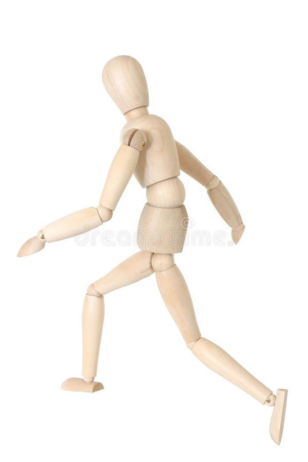 Mannequin Running royalty free stock images