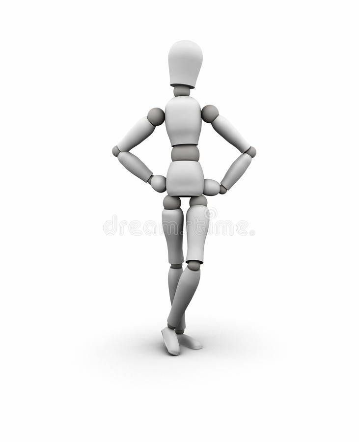 Mannequin Standing, Hands On Hips Stock Photo