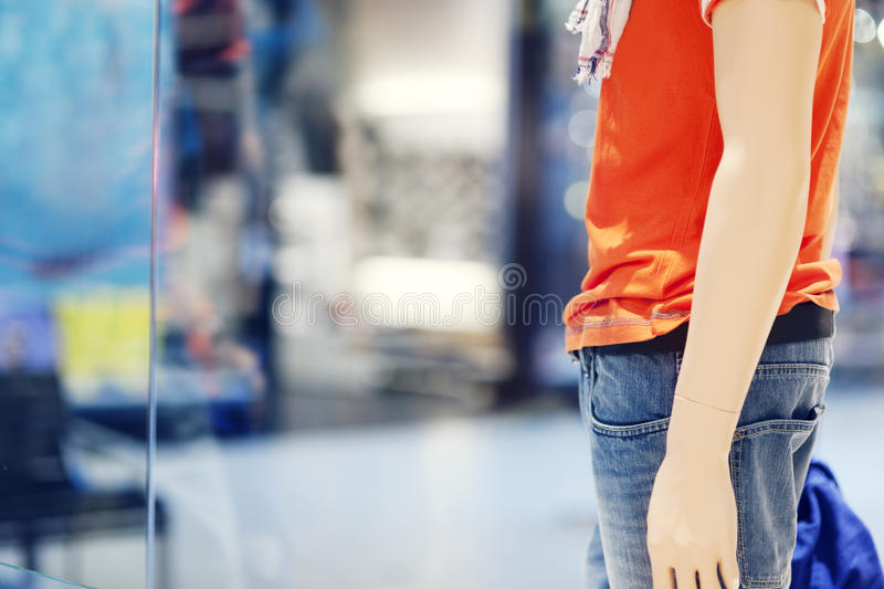 Mannequin in store stock photography