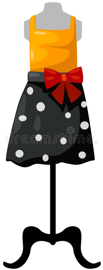 Download Mannequin With Top And Skirt Stock Vector - Image: 25965422