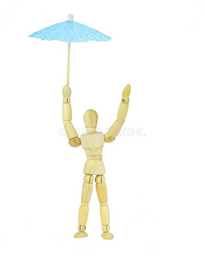 Mannequin with umbrella royalty free stock image