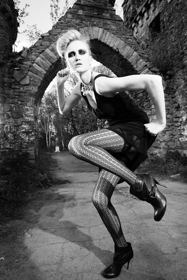 Mannequin voor de poort royalty-vrije stock fotografie