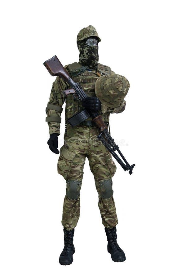 Mannequin w postaci infantryman Ukraiński wojsko obraz stock
