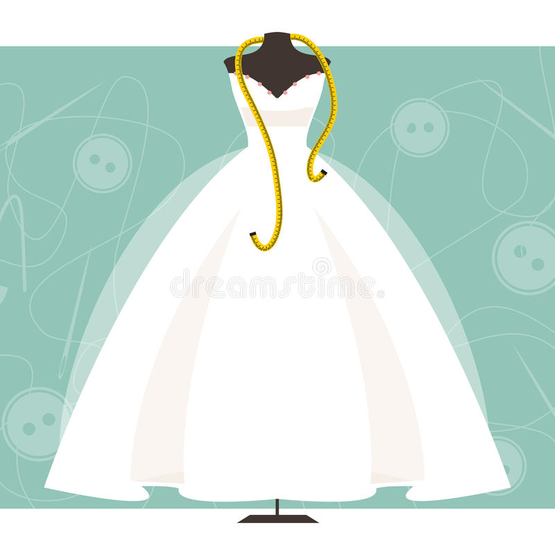 Mannequin with a wedding dress. Vector illustration vector illustration
