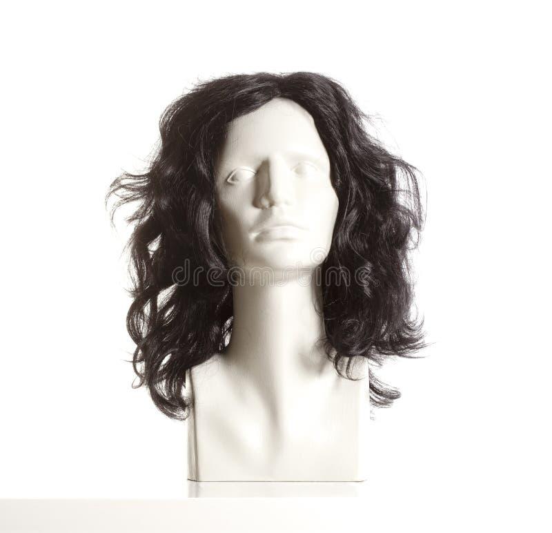 Mannequin-weiblicher Kopf mit Perücke stockbilder