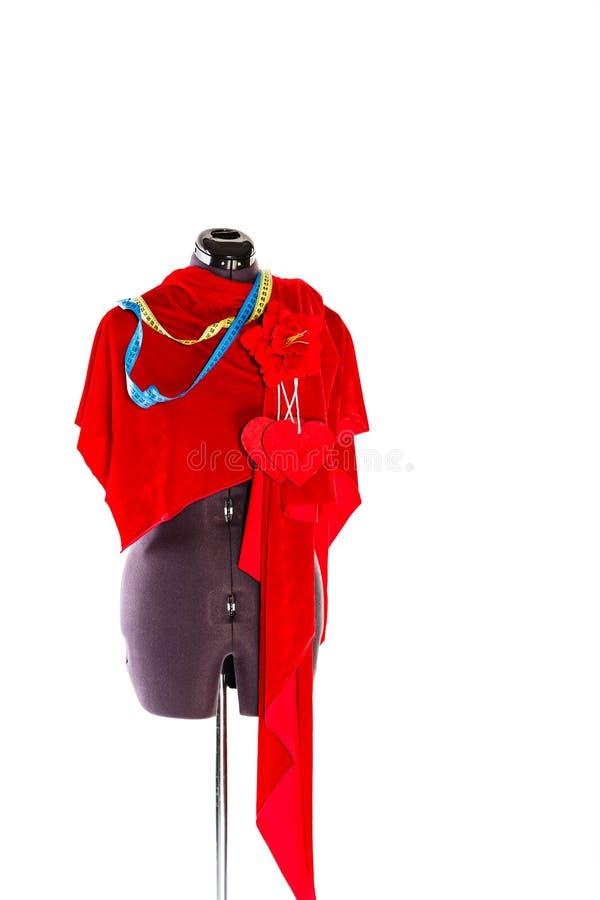 Download Mannequin Z Tkaniną I Faborkiem Obraz Stock - Obraz złożonej z przemysł, sztucznie: 53790877