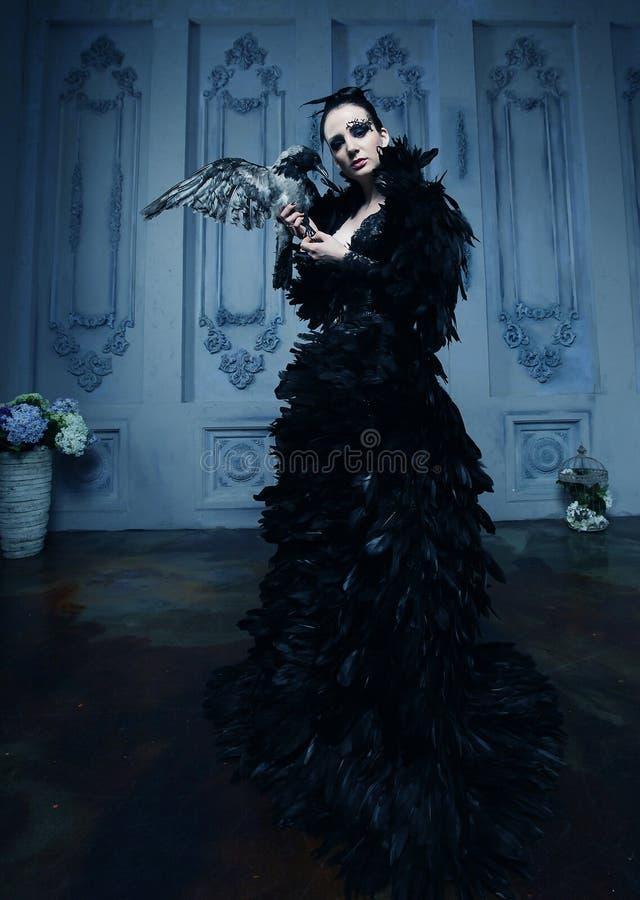 Mannequin in zwarte kleding royalty-vrije stock foto's