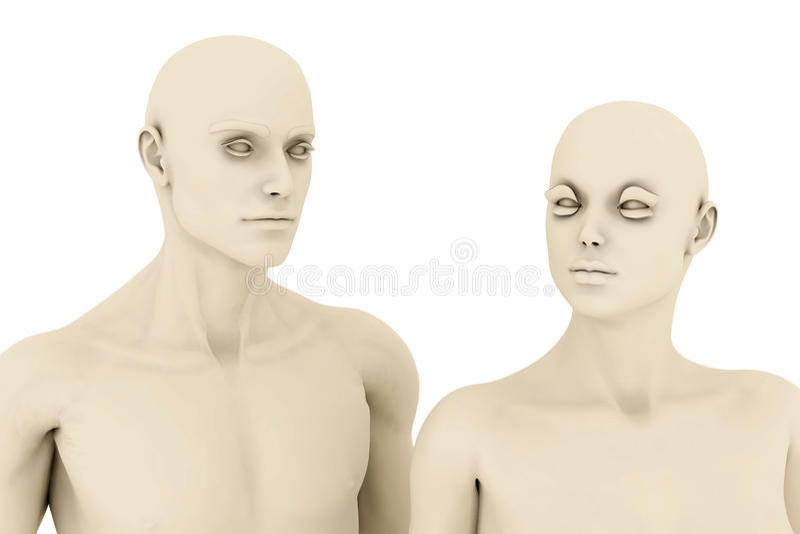 Mannequine lizenzfreie abbildung