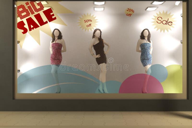 Mannequine in sala d'esposizione immagini stock