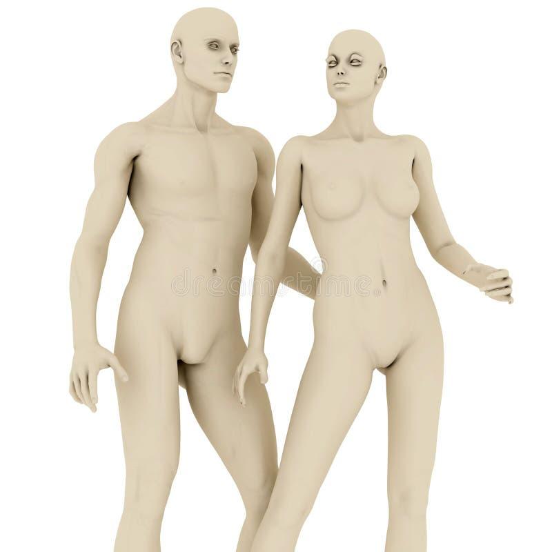 Mannequins royalty free illustration