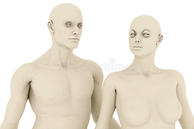 Mannequins illustration stock