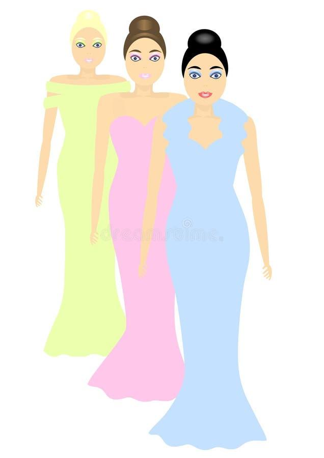 Mannequins vector illustratie