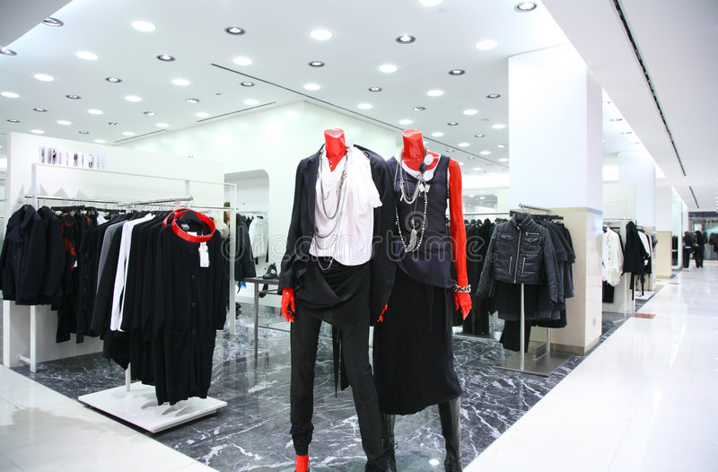 Download Mannequins in clothes shop stock image. Image of clothing - 7342497