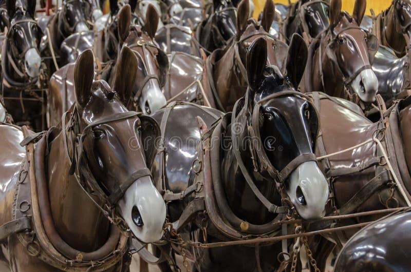 Mannequins de cheval image stock
