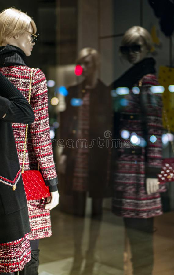 Mannequins.Fashion Store in center of the city royalty free stock photos