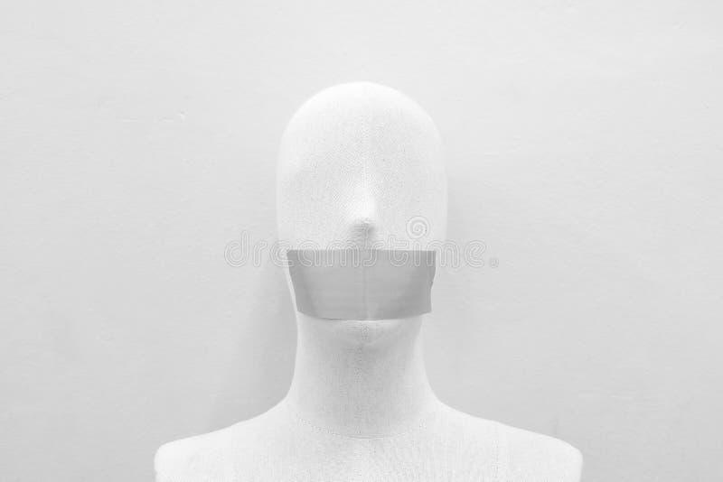 Mannequins gagged z taśmą obraz royalty free