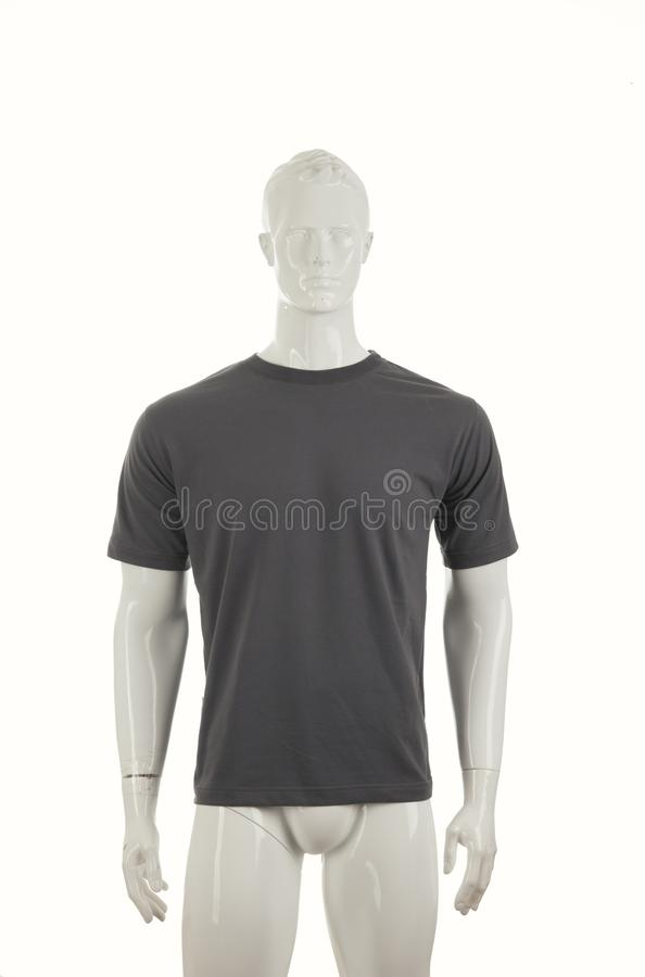 Mannequins with grey shirt royalty free stock photos