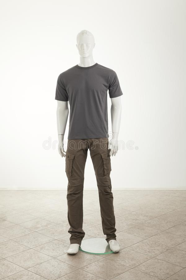 Mannequins with grey shirt royalty free stock images