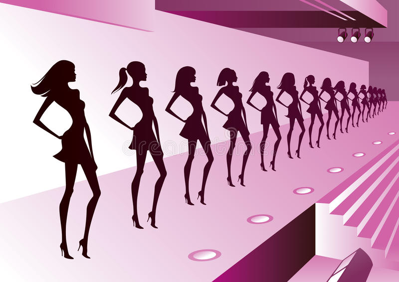 Mannequins op overzicht vector illustratie