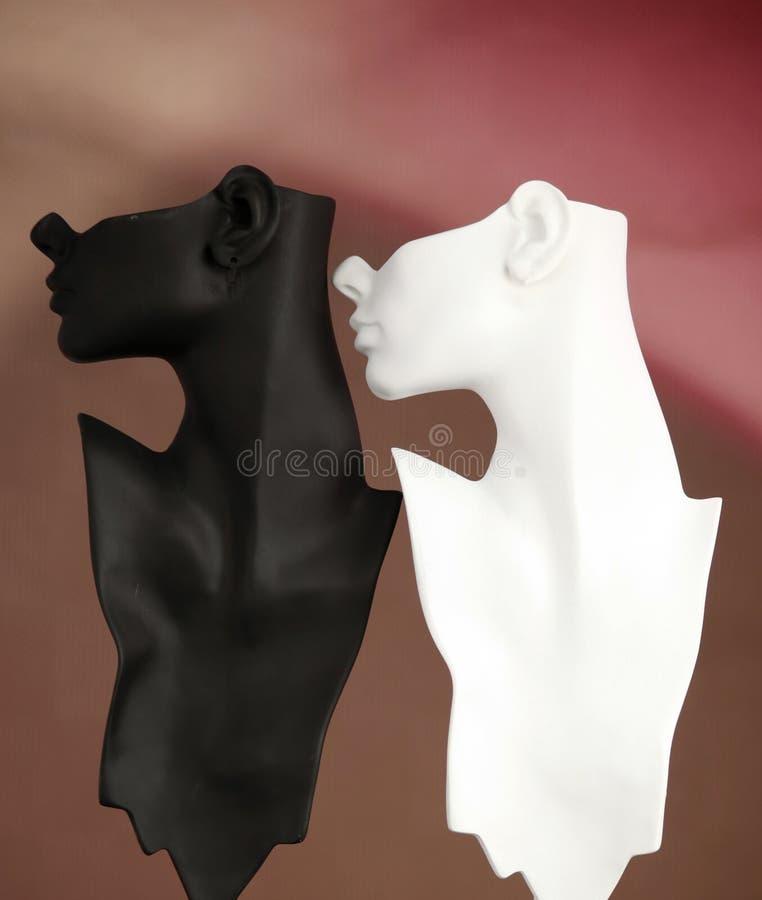 Mannequins preto e branco imagem de stock