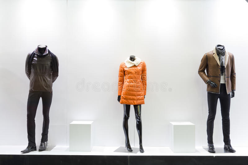 Mannequins in a store stock image