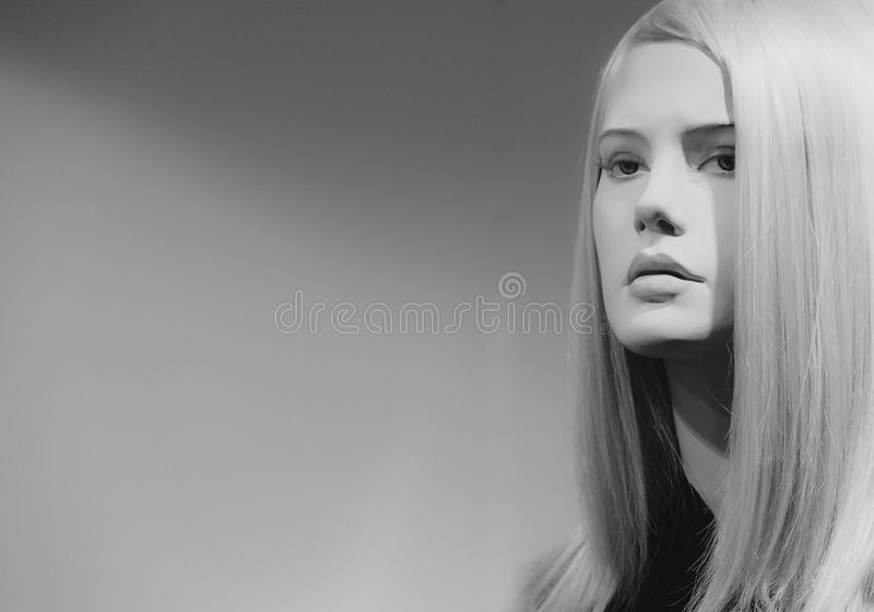 Mannequins in stores. Dolls stock image