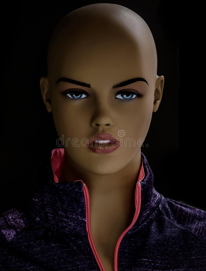 Mannequins in stores. Dolls royalty free stock images