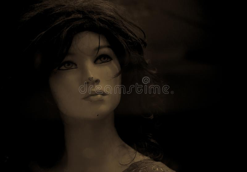 Mannequins in stores. Dolls royalty free stock photography