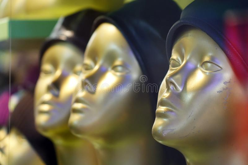 Mannequins in stores.fashion boutique royalty free stock photo