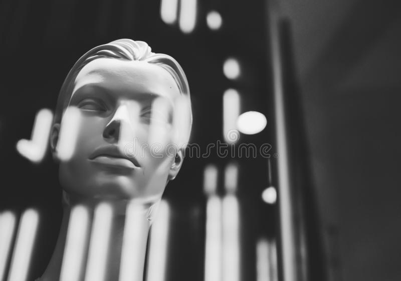 Mannequins in stores. Dolls stock photography