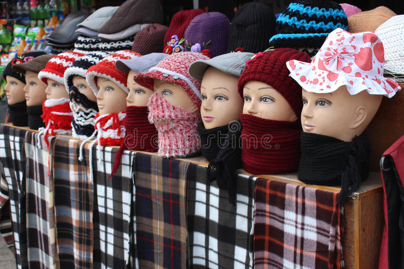 Mannequins in winter garment. Winter is approaching rapidly. All need to get protected from winter bites. So everyone is in search for winter garments. Hence royalty free stock photos
