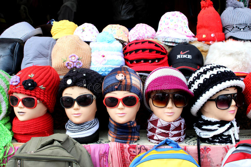 Mannequins in winter garment. Winter is approaching rapidly. All need to get protected from winter bites. So everyone is in search for winter garments. Hence royalty free stock image
