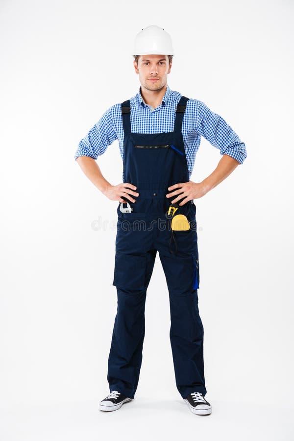 Mannerbauer in der Sturzhelmstellung stockfotos