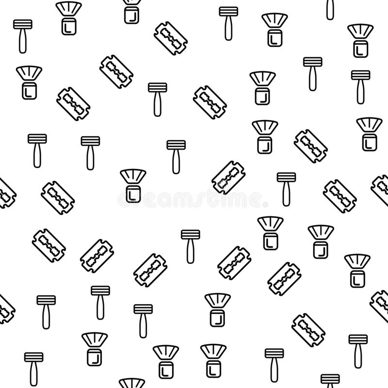 Mannes-Barber Shaving Device Seamless Pattern-Vektor lizenzfreie abbildung