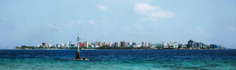 Mannetje het kapitaal van de Maldiven stock foto