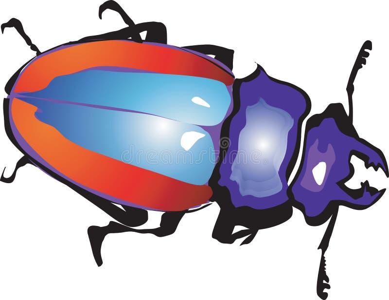 Mannetje-kever vector illustratie