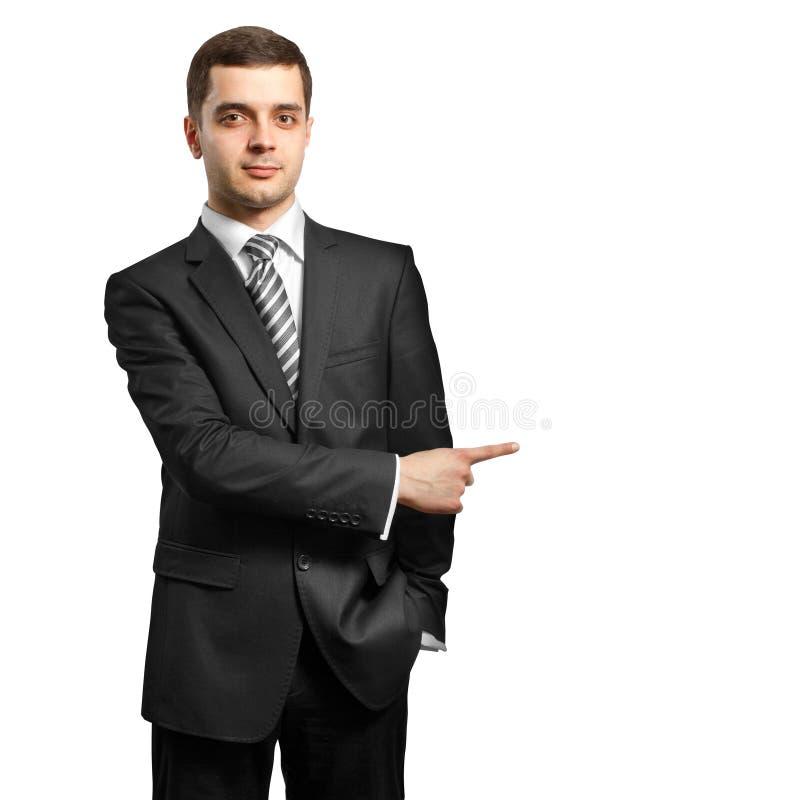 Mannetje in kostuum stock foto