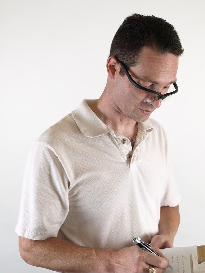 Mannetje met de Bril van de Veiligheid royalty-vrije stock foto's