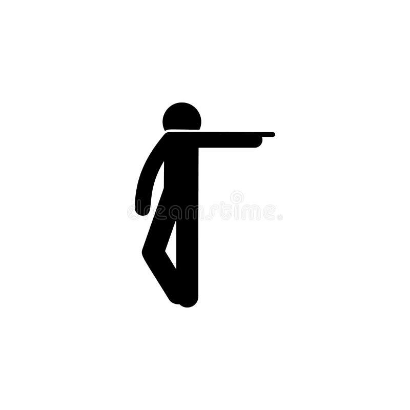 Mannfinger, Ikone zeigend Element des Mannes Ikone für bewegliche Konzept und Netz apps zeigend Der Finger des ausführlichen Mann stock abbildung