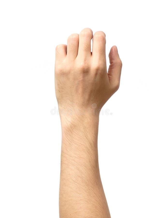 Mannhand getrennt Halten Sie, ergreifen Sie oder fangen Sie lizenzfreies stockbild