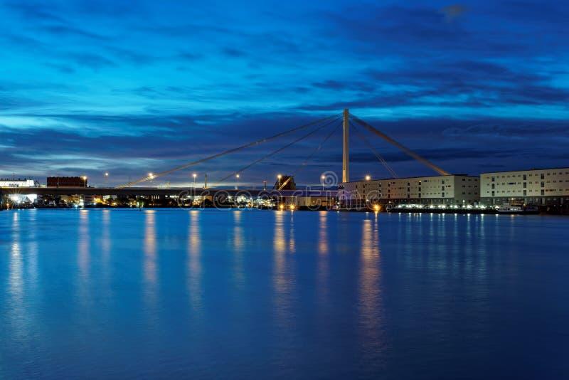 Mannheim en Ludwigshafen stock fotografie