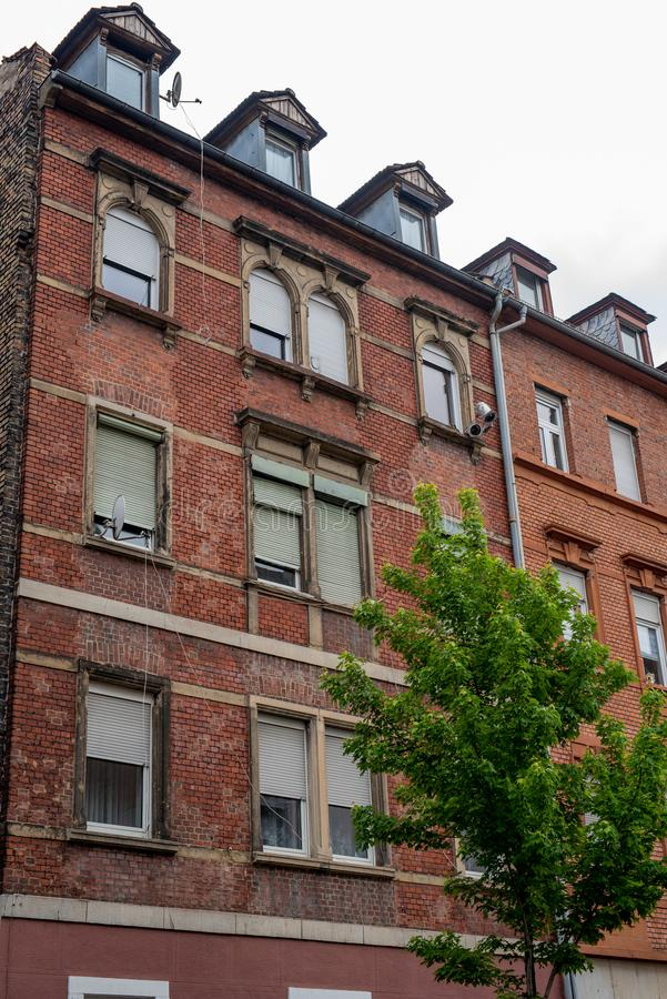 MANNHEIM, GERMANY, 05/11/2019: typical German residential buildings royalty free stock photos