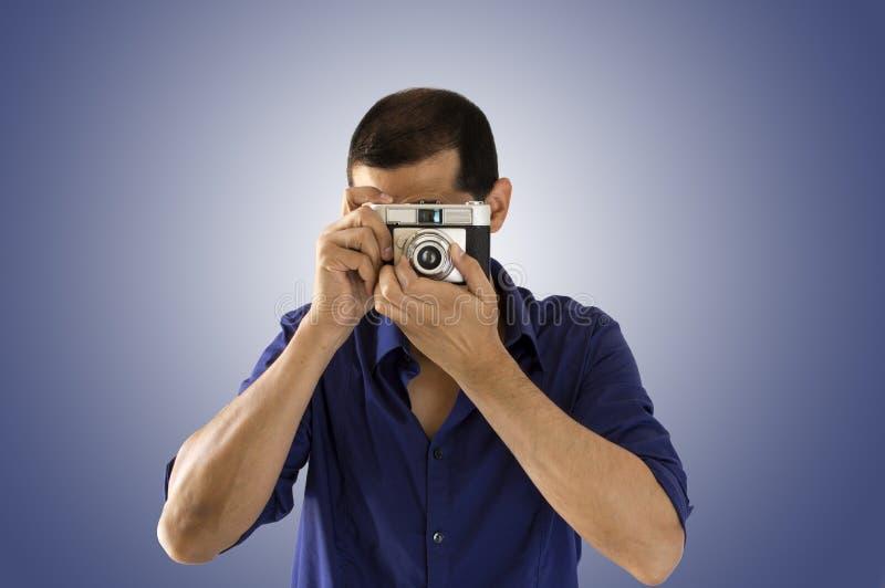 Mannphotograph lizenzfreie stockfotos