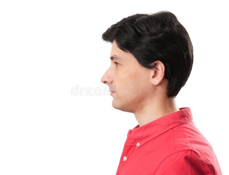 Mannprofilgesicht stockfotografie