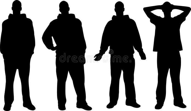 Mannschattenbilder lizenzfreie abbildung