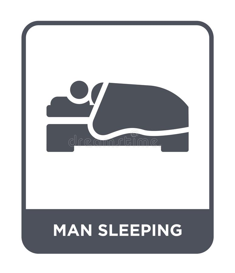 Mannschlafenikone in der modischen Entwurfsart Mannschlafenikone lokalisiert auf weißem Hintergrund Mannschlafenvektorikone einfa vektor abbildung